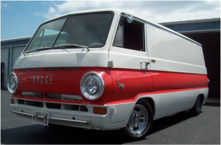 To This Vans Owner When It Was For Sale Dodge Equipped With A Big Block Chrysler Engine Making Every Bit As Muscular Its Paint Job